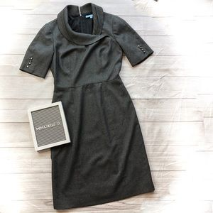 Antonio Melani Womens Size 2 Charcoal Gray Dress